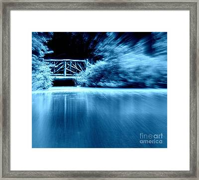 Blue Bridge Framed Print by Maria Scarfone