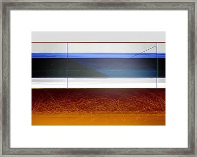 Blue Bridge To Life Framed Print by Naxart Studio