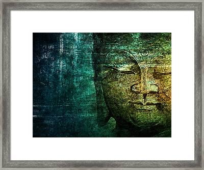 Blue Buddha Framed Print by Claudia Moeckel