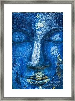 Framed Print featuring the photograph Blue Buddha  by Luciano Mortula