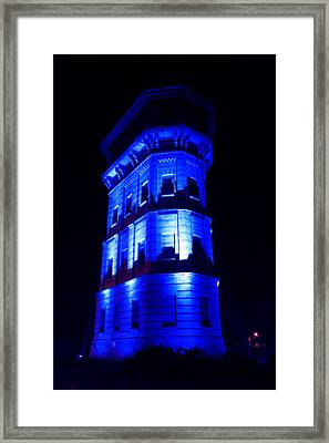 Blue Building Framed Print by Ion Para