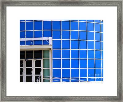 Blue Building Framed Print by Yali Shi