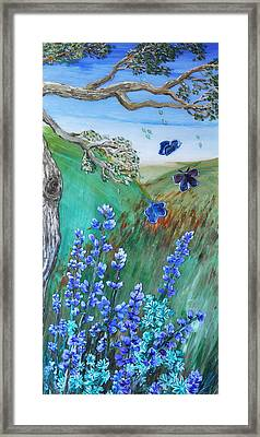 Blue Butterflies Framed Print