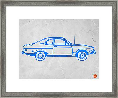 Blue Car Framed Print by Naxart Studio