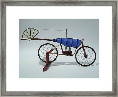 Blue Caravan Framed Print by Jim Casey