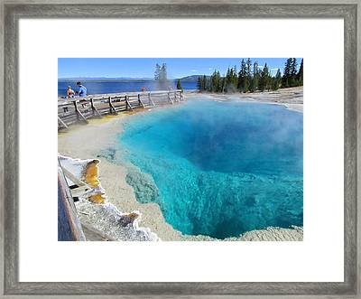 Blue Cauldron Framed Print