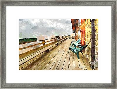 Blue Chairs Framed Print by Anne Kitzman