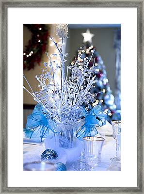 Blue Christmas Framed Print by Trudy Wilkerson