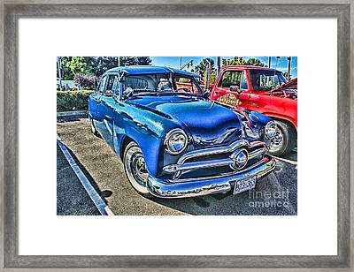 Blue Classic Hdr Framed Print by Randy Harris