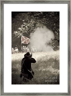 Blue Coat Gray Smoke Framed Print by Kim Henderson
