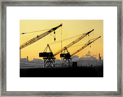 Framed Print featuring the photograph Blue Collar Sunset by Mike Flynn
