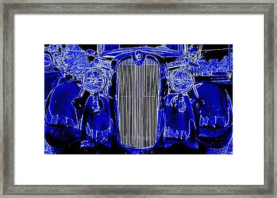 Blue Coupe Framed Print by J R Seymour