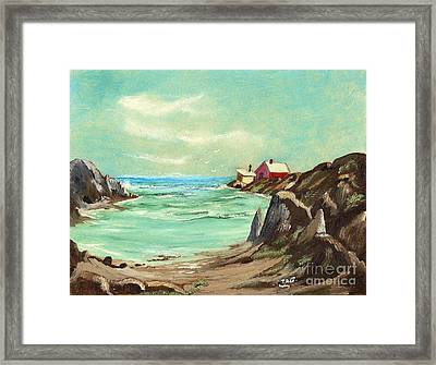 Blue Cove Serenity Framed Print