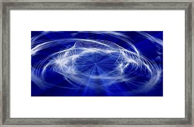 Blue Creation Framed Print