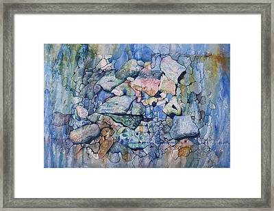 Blue Creek Stones Framed Print