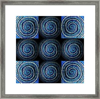 Blue Cross Framed Print