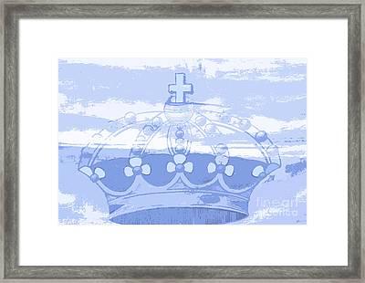 Blue Crown Children's Art Framed Print by ArtyZen Studios