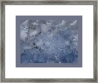 Framed Print featuring the photograph Blue Crystals by Patricia Overmoyer