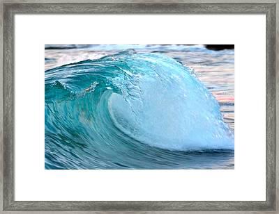 Blue Curl Framed Print