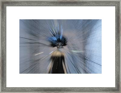 Framed Print featuring the digital art Blue by Danica Radman