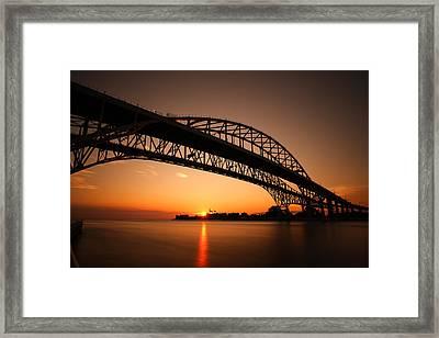 Framed Print featuring the photograph Blue Dawn by Gordon Dean II