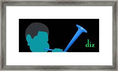 Blue Diz Framed Print by Victor Bailey