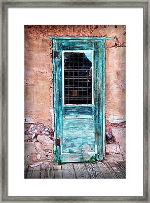 Blue Door 316 Framed Print by James Bethanis