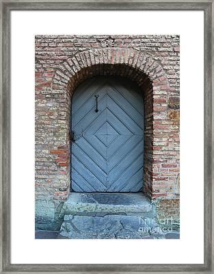 Blue Door Framed Print by Carol Groenen