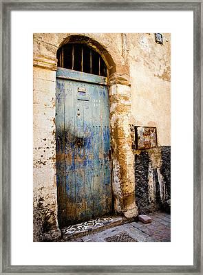 Blue Door Framed Print by Marion McCristall