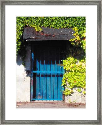 Blue Door Framed Print by The Art of Marsha Charlebois