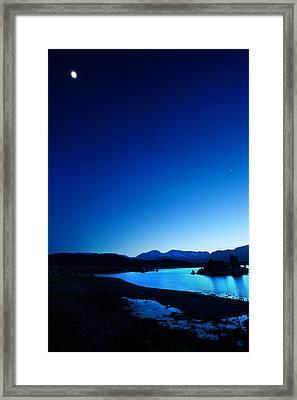 Blue Dusk Mono Lake Framed Print by Sylvia J Zarco