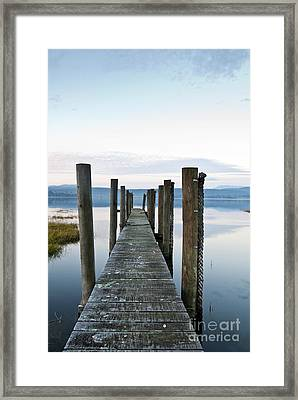Blue Evening Framed Print by David Lade