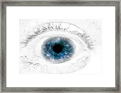 Blue Eye Framed Print by Phill Petrovic