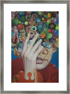 Blue-eyed Hand Framed Print by Douglas Fromm