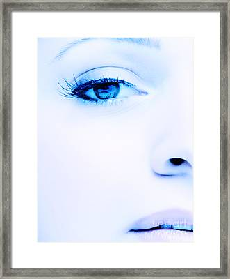 Blue Eyes Framed Print by Iryna Shpulak