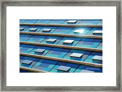 Blue Facade Framed Print
