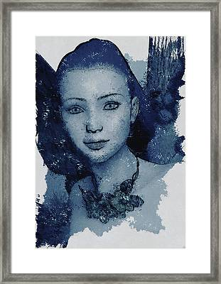 Blue Fae Framed Print by Maynard Ellis