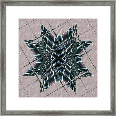 Blue Fire Framed Print