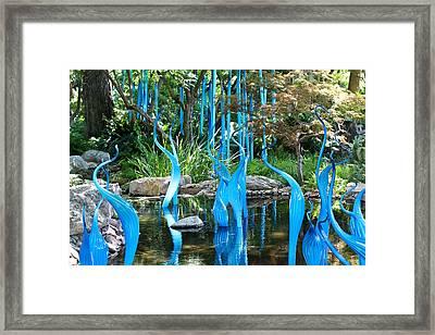 Blue Flamingos  Framed Print by Elizabeth Hart