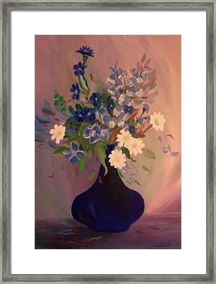 Blue Flowers 2 Framed Print by Christy Saunders Church