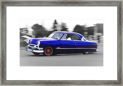 Blue Ford Customline Framed Print by Phil 'motography' Clark