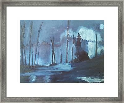 Blue Forest Framed Print by Joseph Giler
