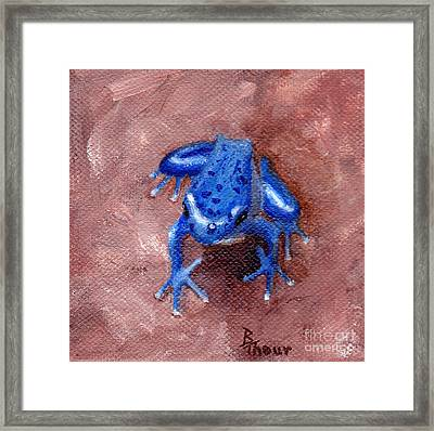 Blue Froggy Framed Print