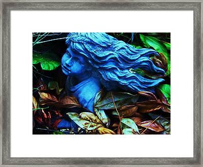 Blue Girl Framed Print by Todd Sherlock