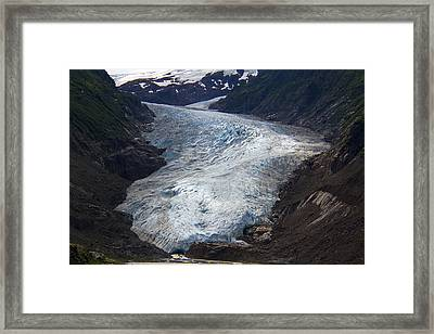 Blue Glacier Framed Print by Kim French