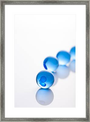 Blue Glass Balls With Regularity Framed Print by Toshiro Shimada