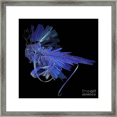 Blue Glass Hopper Framed Print