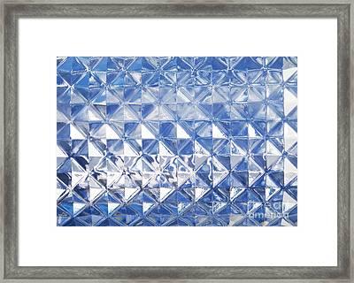 Blue Glass Texture Framed Print