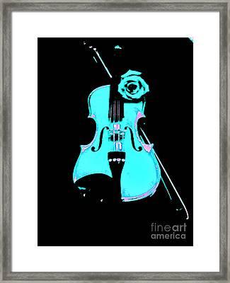 Blue Grass Fiddle Framed Print by Marsha Heiken
