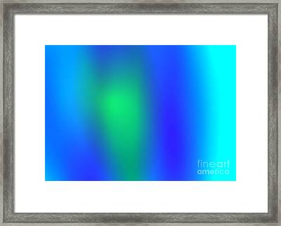 Blue Green Abstract Framed Print